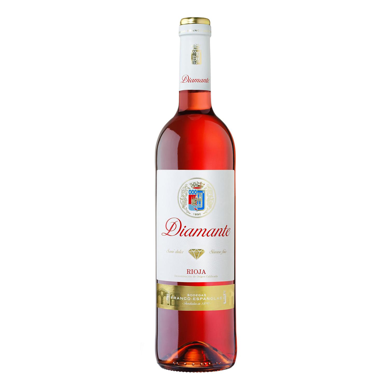 Vino D.O. Rioja rosado Diamante 75 cl.