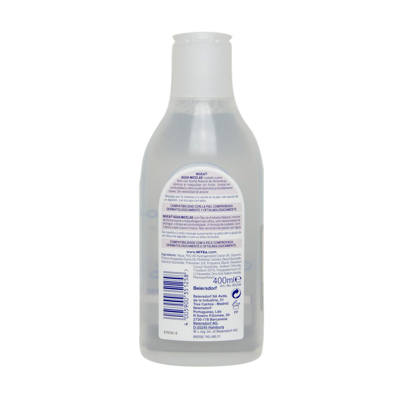 Agua Micelar piel seca/sensible Nivea 400 ml. -