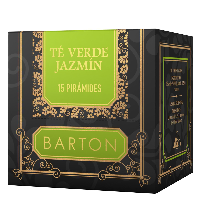 Té verde jazmín en bolsitas Barton 15 ud.