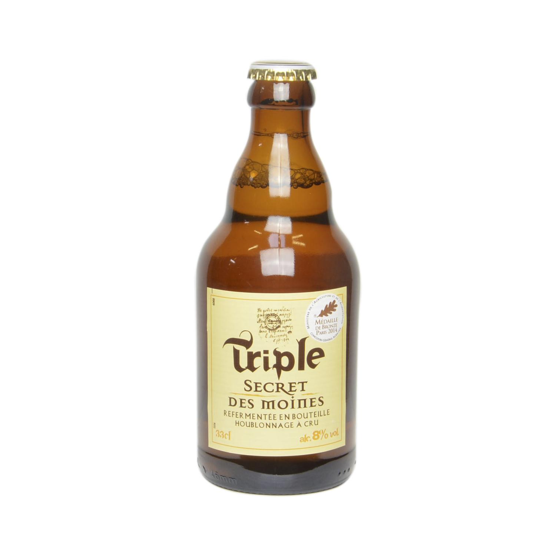 Cerveza Triple Secret des moines botella 33 cl.
