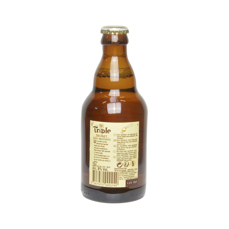 Cerveza Triple Secret des moines botella 33 cl. -