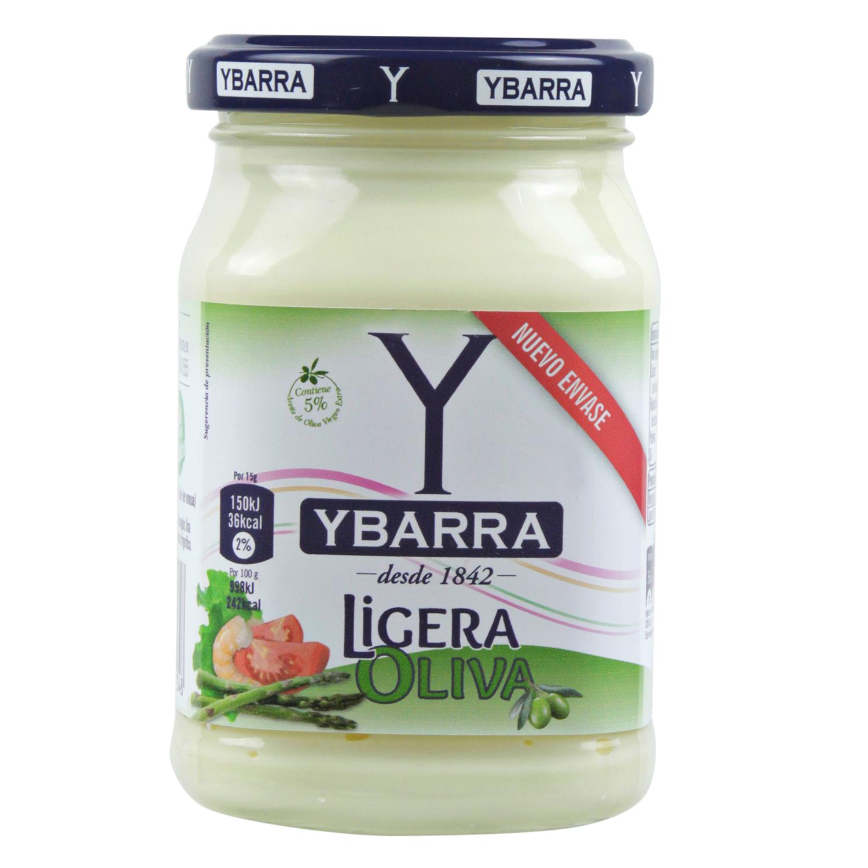 Mayonesa Ligera Oliva Ybarra tarro 225 ml.