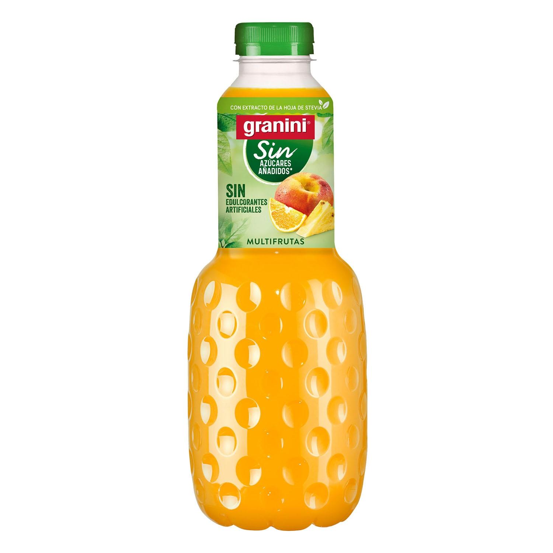 Néctar de multi frutas Granini light sion azúcar botella  1 l.