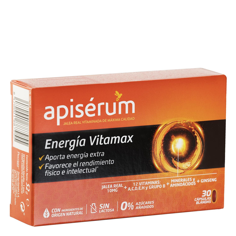 Complemento energético y vitamínico Apisérum sin lactosa 30 cápsulas