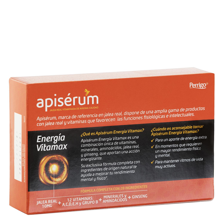 Complemento energético y vitamínico Apisérum sin lactosa 30 cápsulas -