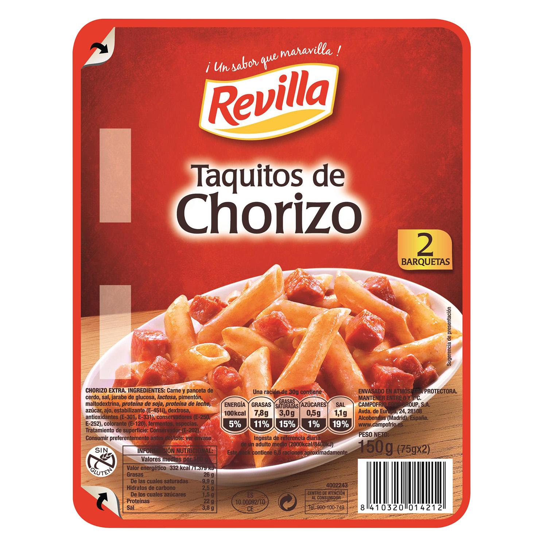 Taquitos de chorizo sin gluten