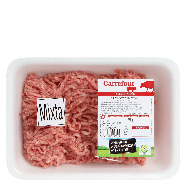Carne Picada Mixta (Vacuno y Cerdo) Carrefour 750 g - 2