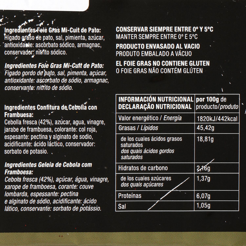 Foie gras de pato Mi-cuit gourmet Capdevila pack de 2 unidades de 65 g  - 2