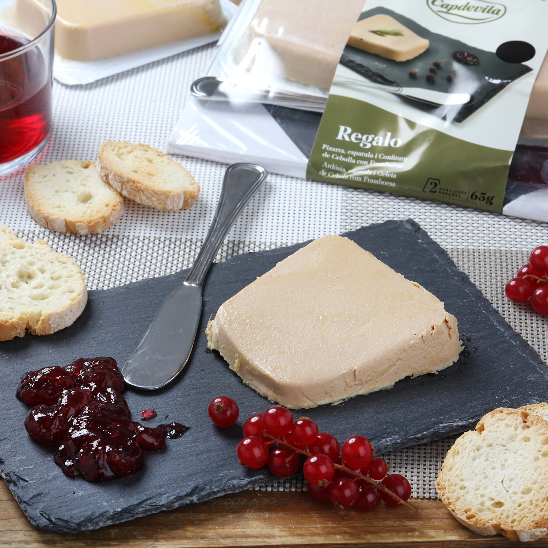 Foie gras de pato Mi-cuit gourmet Capdevila pack de 2 unidades de 65 g  -