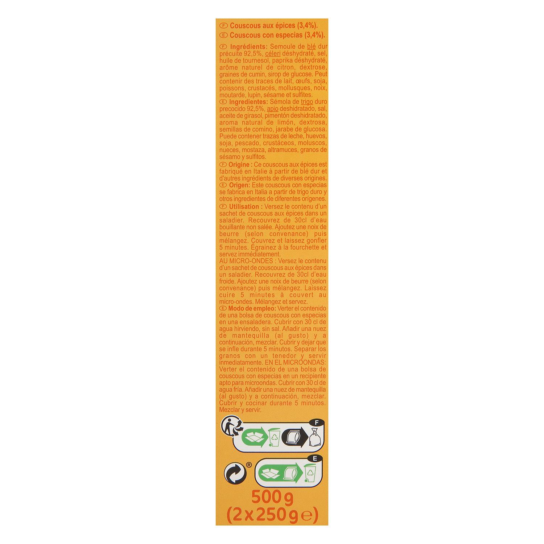 Cuscús con especias Carrefour 500 g. - 3