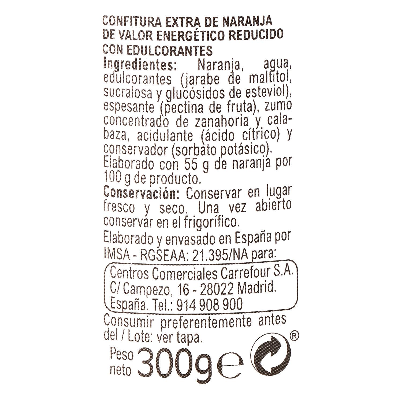 Confitura de naranja categoría extra light Carrefour 300 g.  -