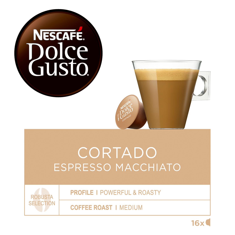 Café cortado espresso macchiato en cápsulas Nescafé Dolce Gusto 16 unidades de 6,3 g. -