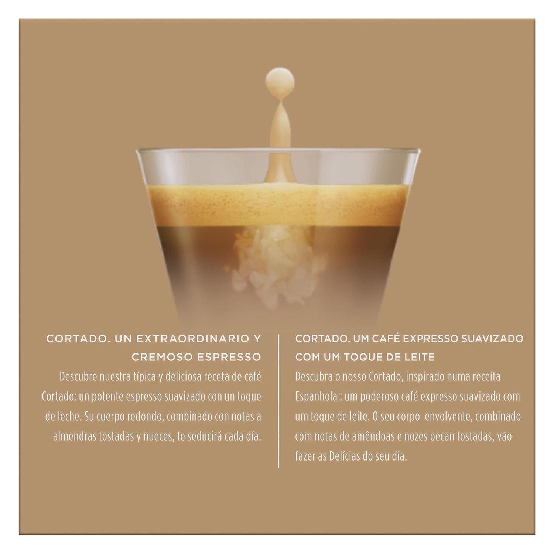 Café cortado espresso macchiato en cápsulas Nescafé Dolce Gusto 16 unidades de 6,3 g. - 2
