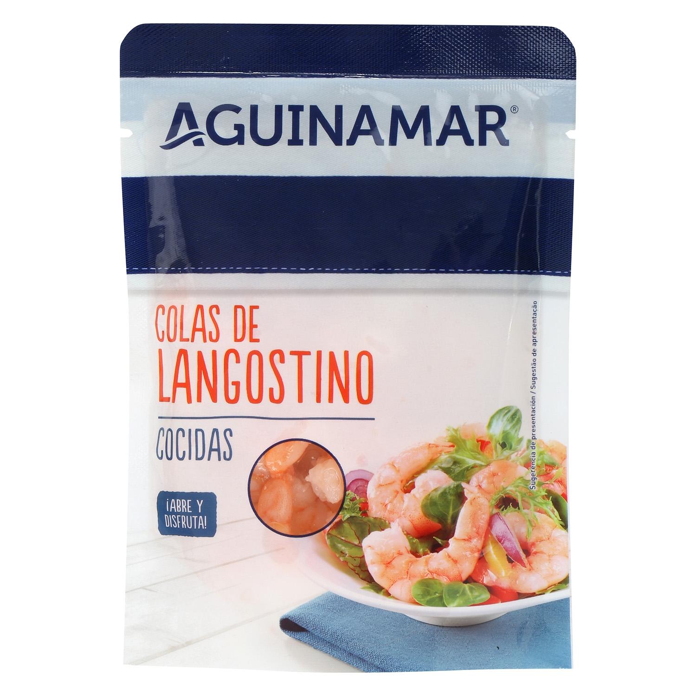 Colas de langostino cocidas Aguinamar 90 g - 2
