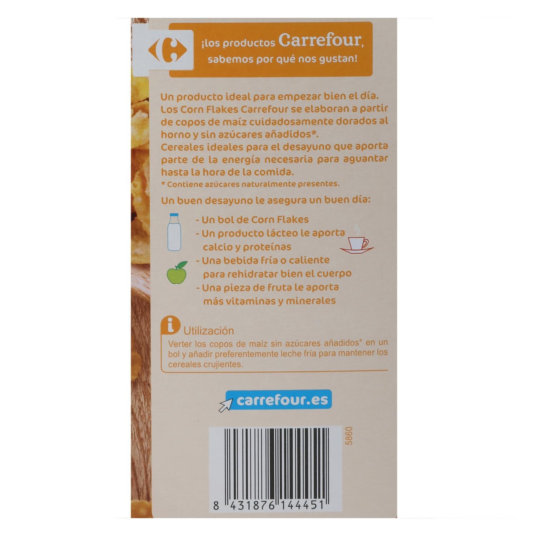 Cereales de maíz sin azúcar añadido Corn Flakes Carrefour 500 g. -