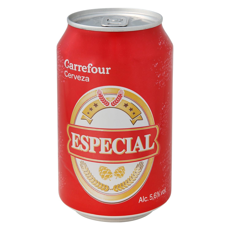 Cerveza Carrefour especial lata 33 cl.