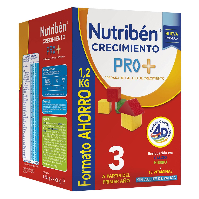 Preparado lácteo de crecimiento 3 Nutribén 1200 g.