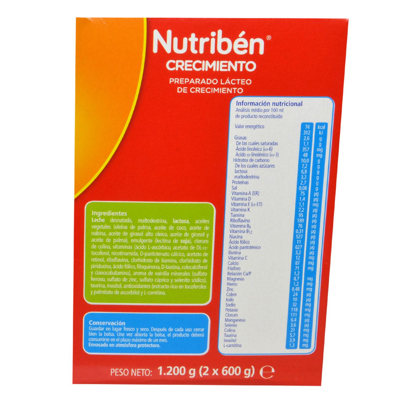 Preparado lácteo de crecimiento 3 Nutribén 1200 g. - 2