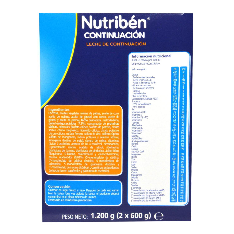 Leche de continuación 2 Nutribén 1200 g. - 2