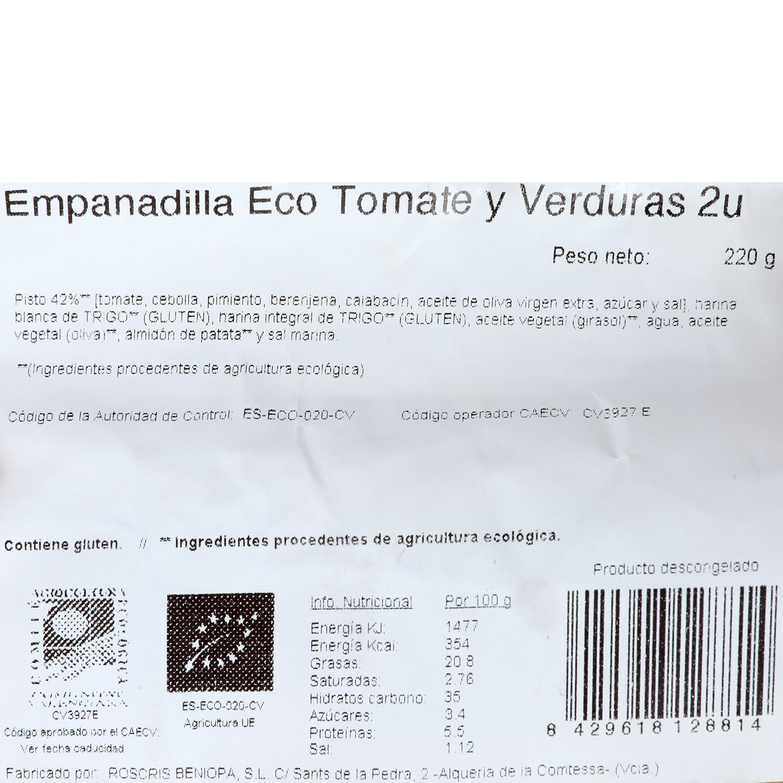 Empanadilla ECO Tomate y Verduras Puchol 2 unidades de 110 g - 3