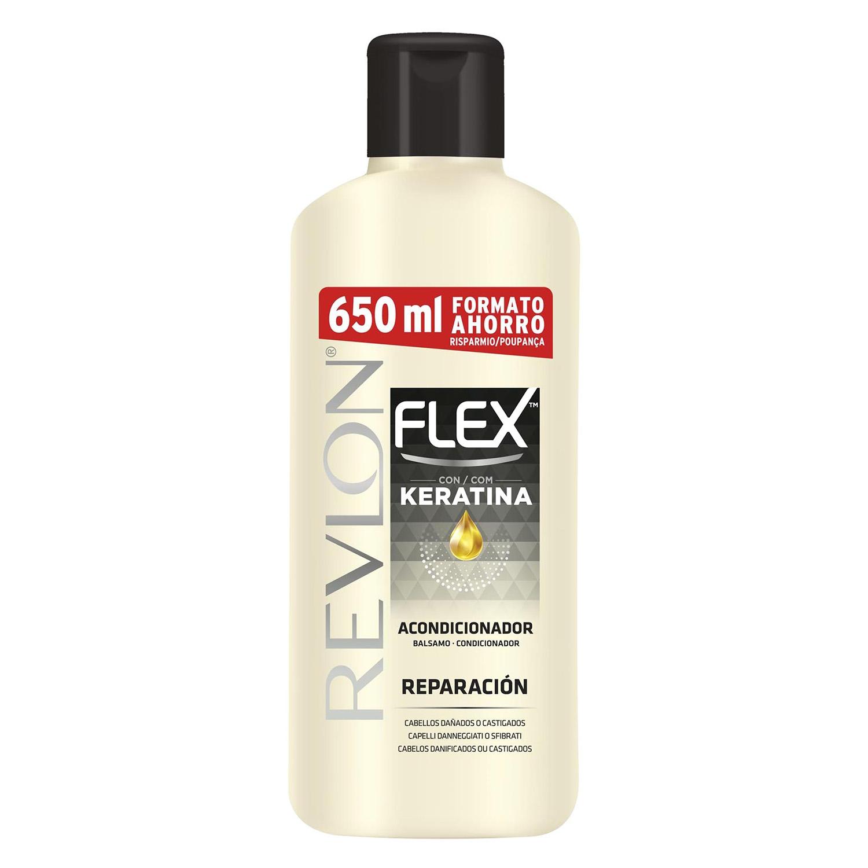 Crema suavizante para cabello seco Revlon Flex 650 ml.