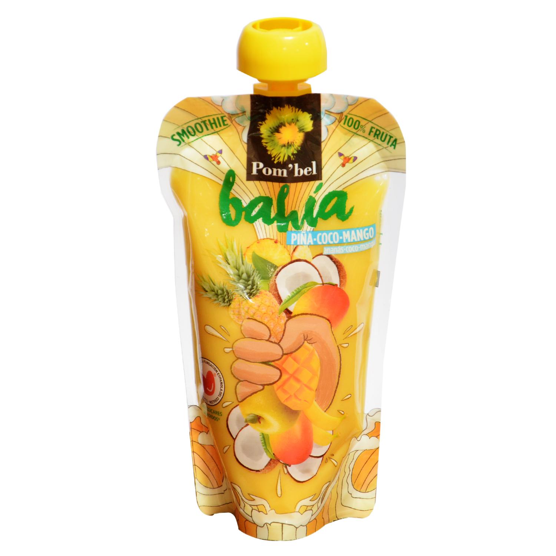 Smoothie de piña,coco y mango Pom'bel bolsita 210 ml. -