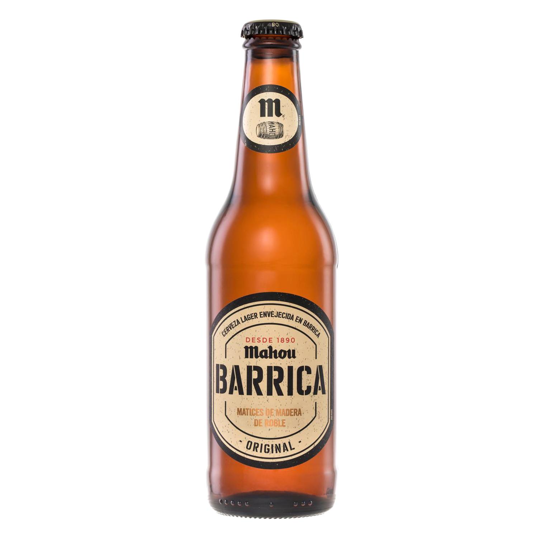 Cerveza Mahou Barrica Original botella 33 cl.