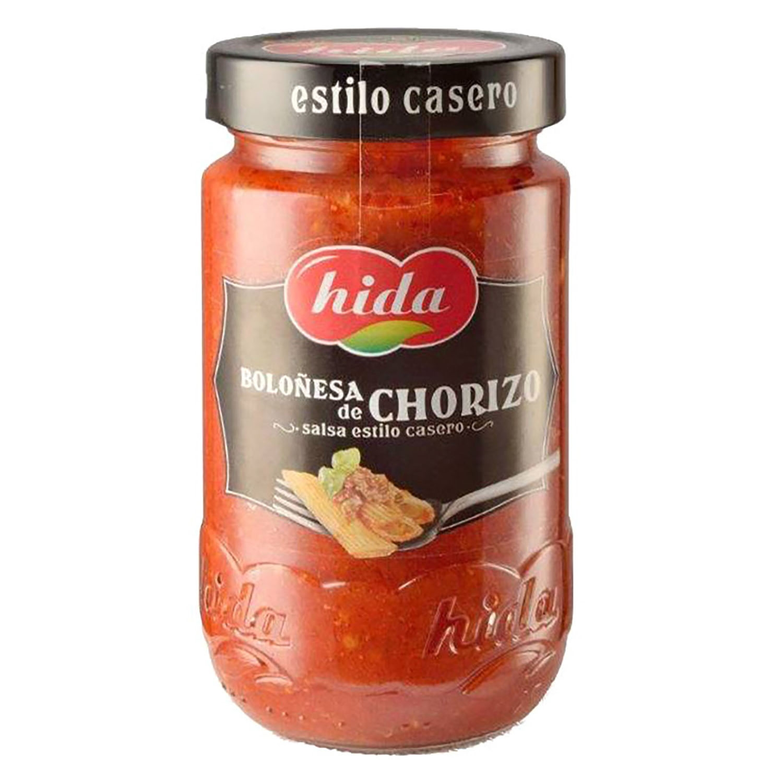 Salsa boloñesa de chorizo Hida tarro 350 g.