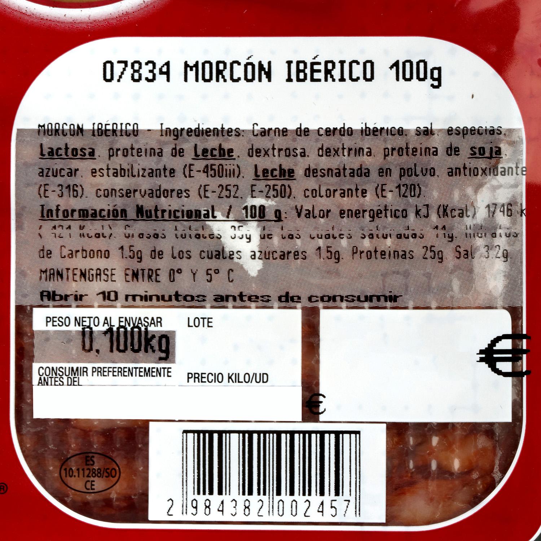 Morcón ibérico loncheado Cárnicas Villar sobre 100 g - 3