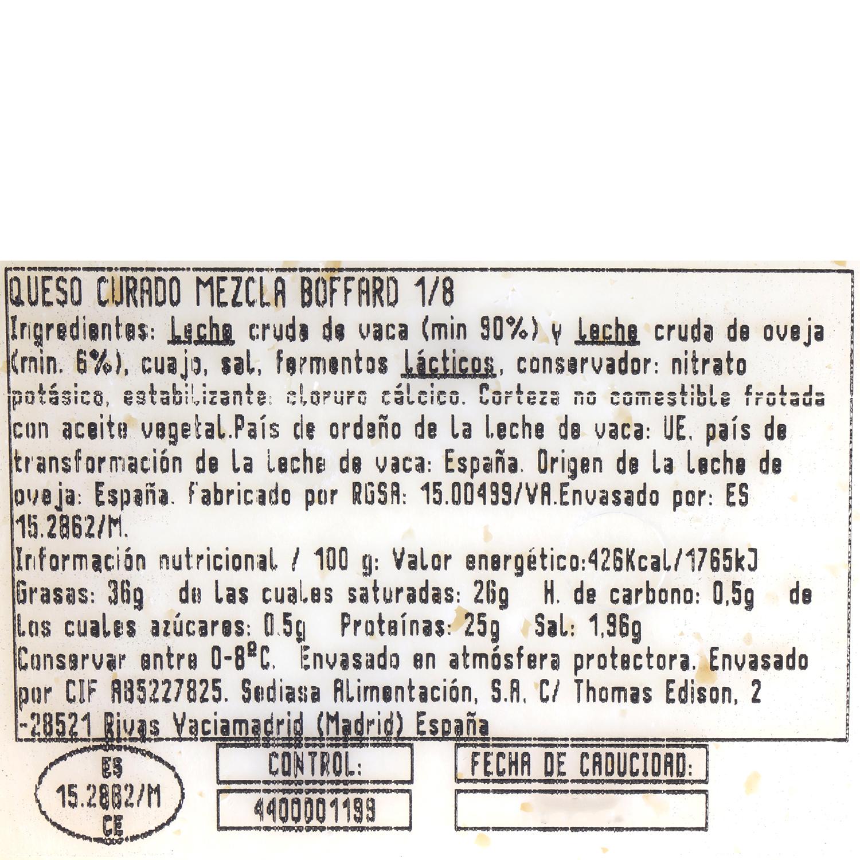 Queso curado mezcla Boffard cuña 1/8 250 g aprox - 3