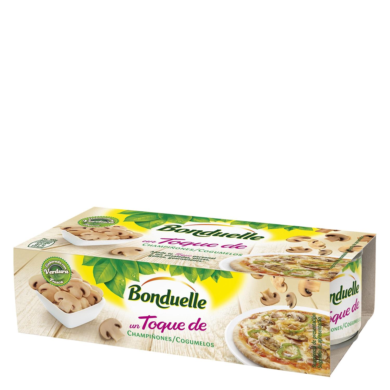 Champiñón laminado natural Bonduelle Pack de 2 unidades de 55 g.