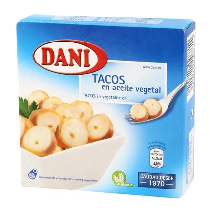 Tacos pulpo en aceite vegetal Dani 68 g.