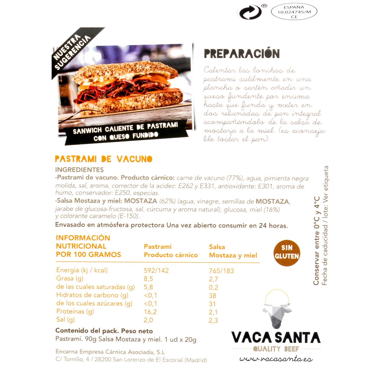 Pastrami vacuno con salsa Santiamen 100 g - 3