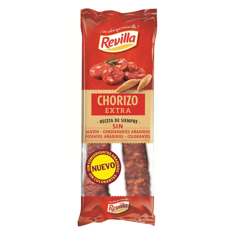 Chorizo de pueblo dulce extra sarta Revilla 250 g.