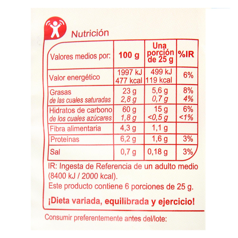 Nachos sabor clásico Carrefour 150 g. - 2