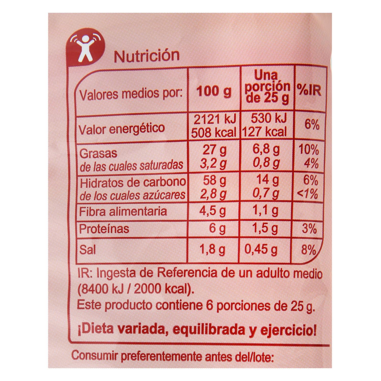 Nachos Tex Mex sabor queso Carrefour 150 g. - 2