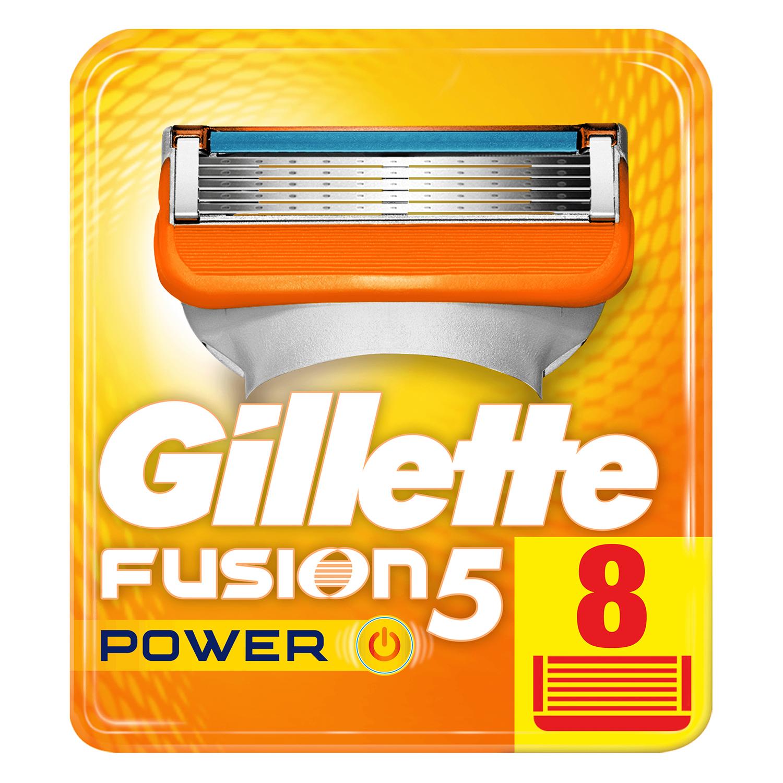 Cargador para afeitar xl Fusion 5 Power Gilette 8 ud.