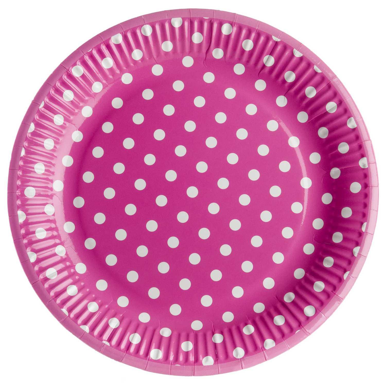 Set Platos Plástico CARREFOUR HOME  8 ud  23 cm - Fucsia
