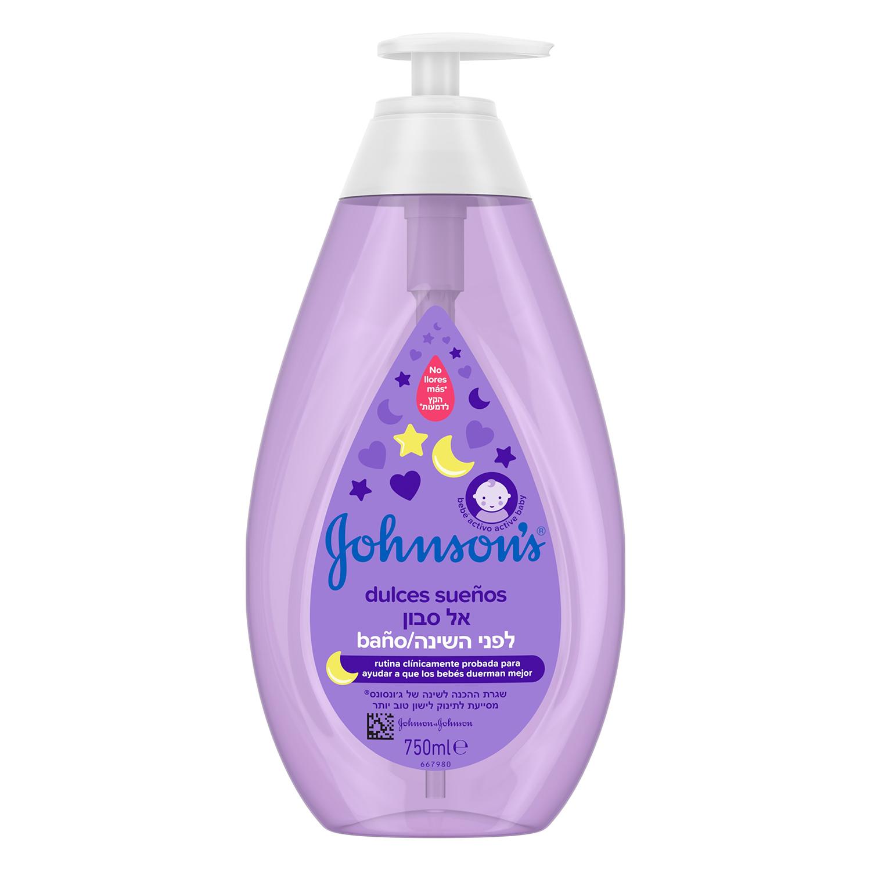 Jabón líquido Dulces Sueños Johnson's 750 ml.