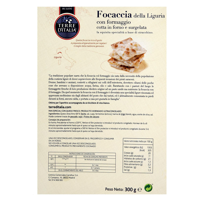 Pan tostado focaccia della Liguria con formaggio Terre d'Italia 300 g. -