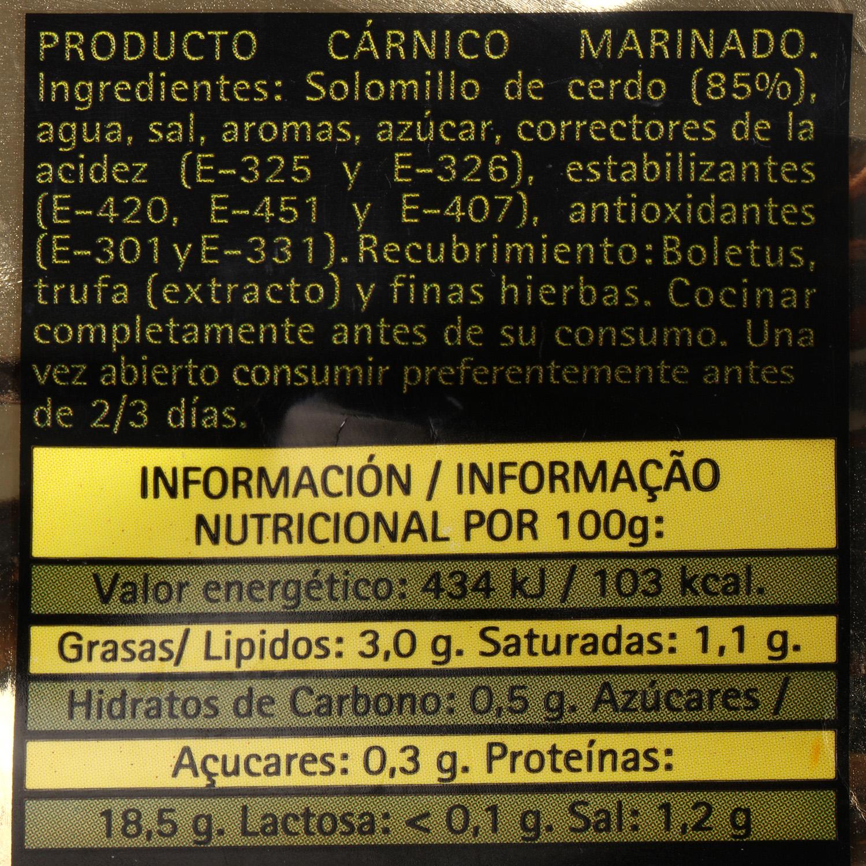 Solomillo de Cerdo Boletus y Trufa Extratierno El Pozo 500 g aprox -