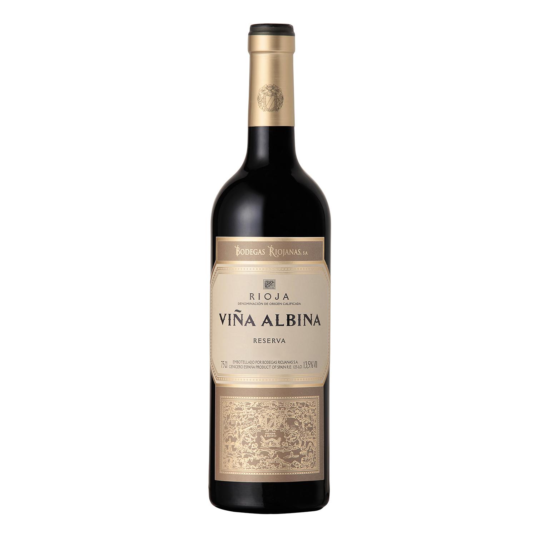 Vino D.O. Rioja tinto reserva Viña Albina 75 cl.
