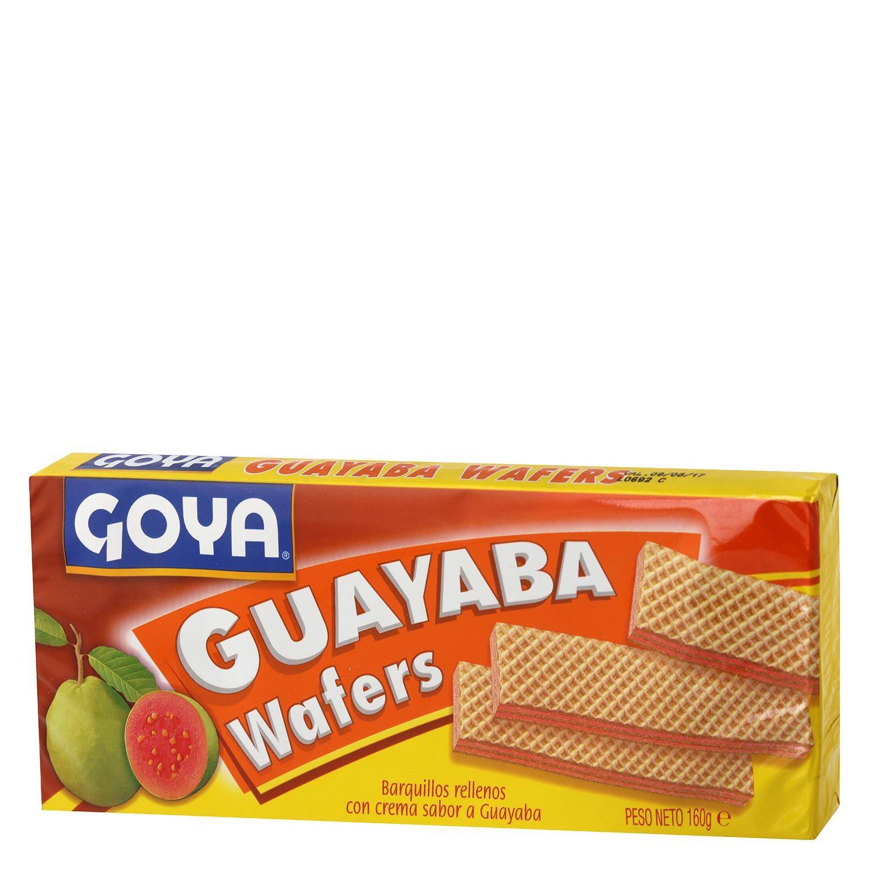 Galletas de barquillo rellenas con crema de guayabaGoya 160 g.