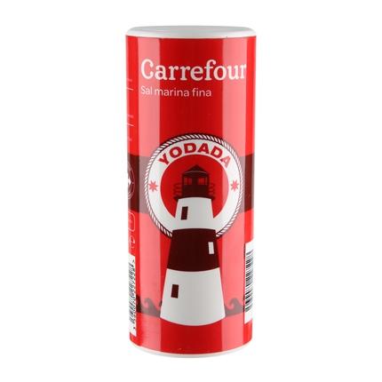 Sal marina yodada fina Carrefour 500 g.