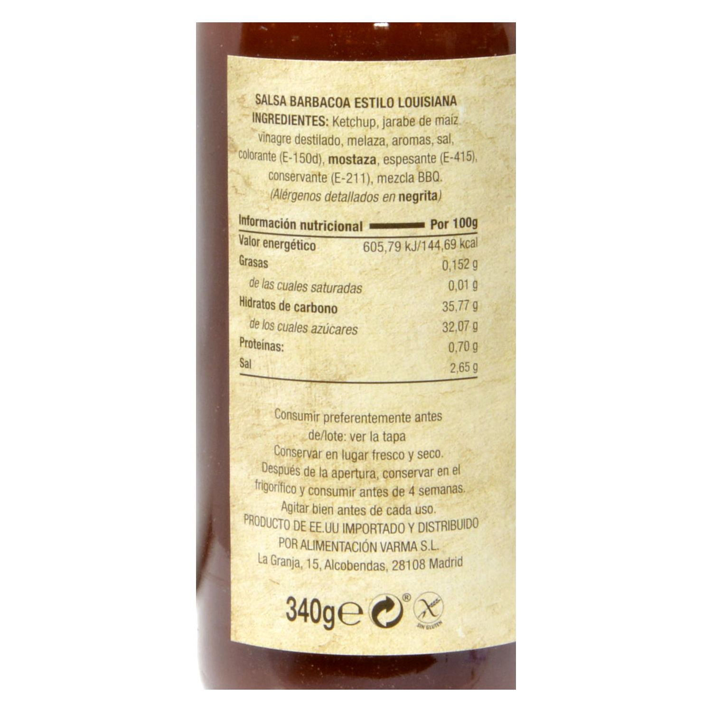 Salsa barbacoa Mary Lee botella 340 g. -