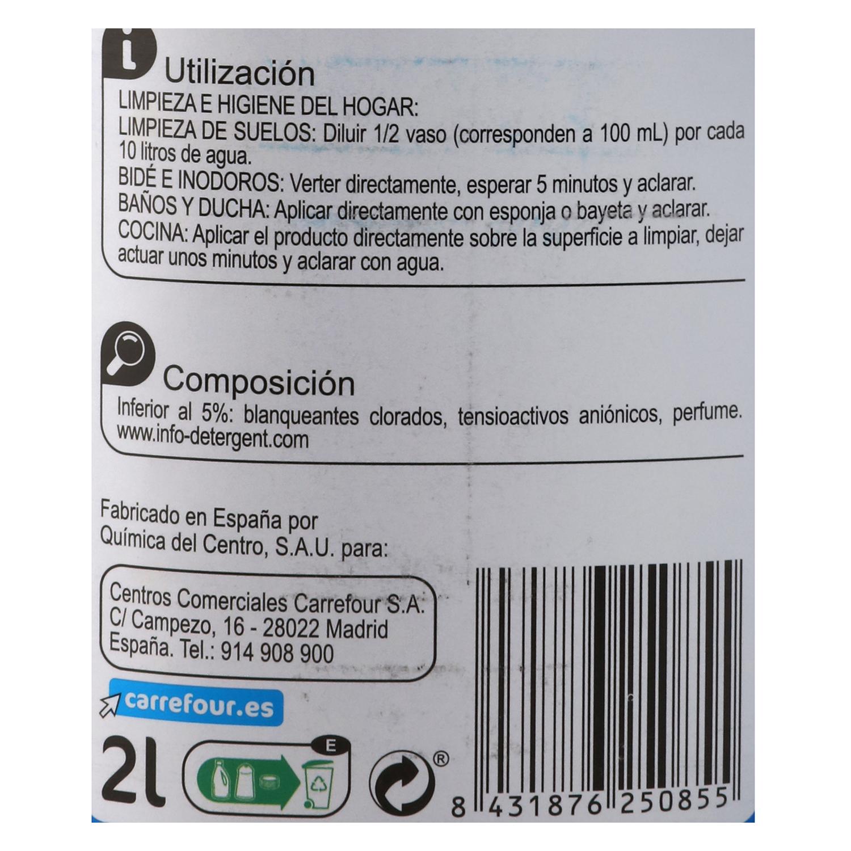 Lejía perfumada con detergente Frescor Marino - 2