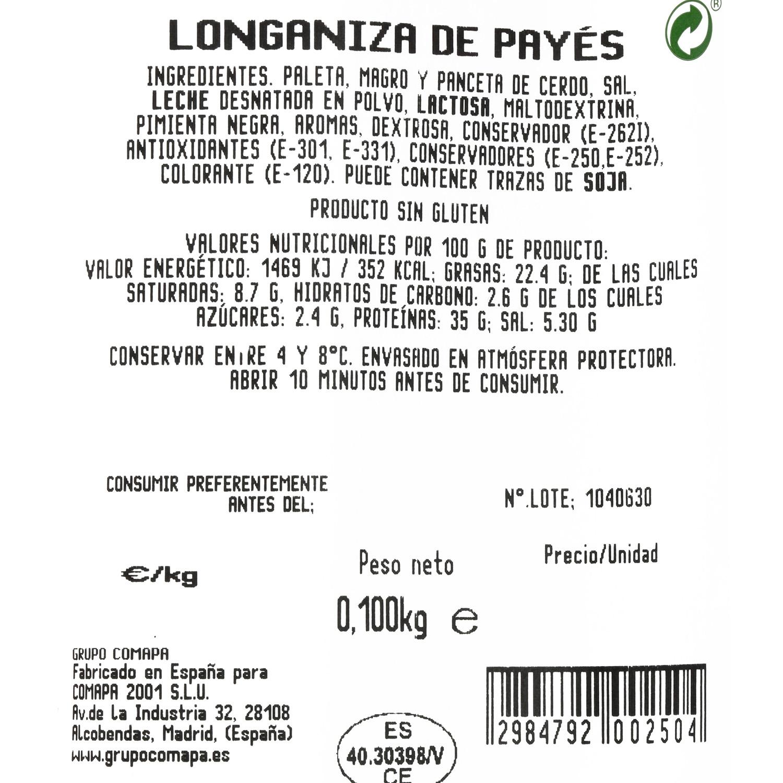 Longaniza payes loncheada Supreme de Antaño 100 g - 3