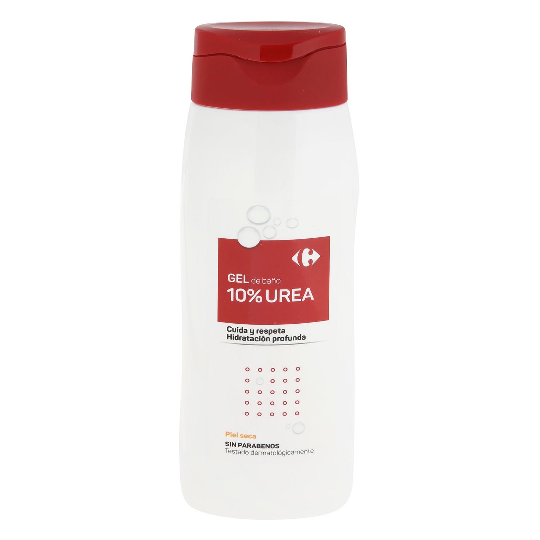 Gel de ducha 10 % urea Carrefour 500 ml.