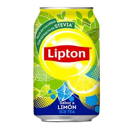 Refresco de té Lipton sabor limón lata 33 cl.