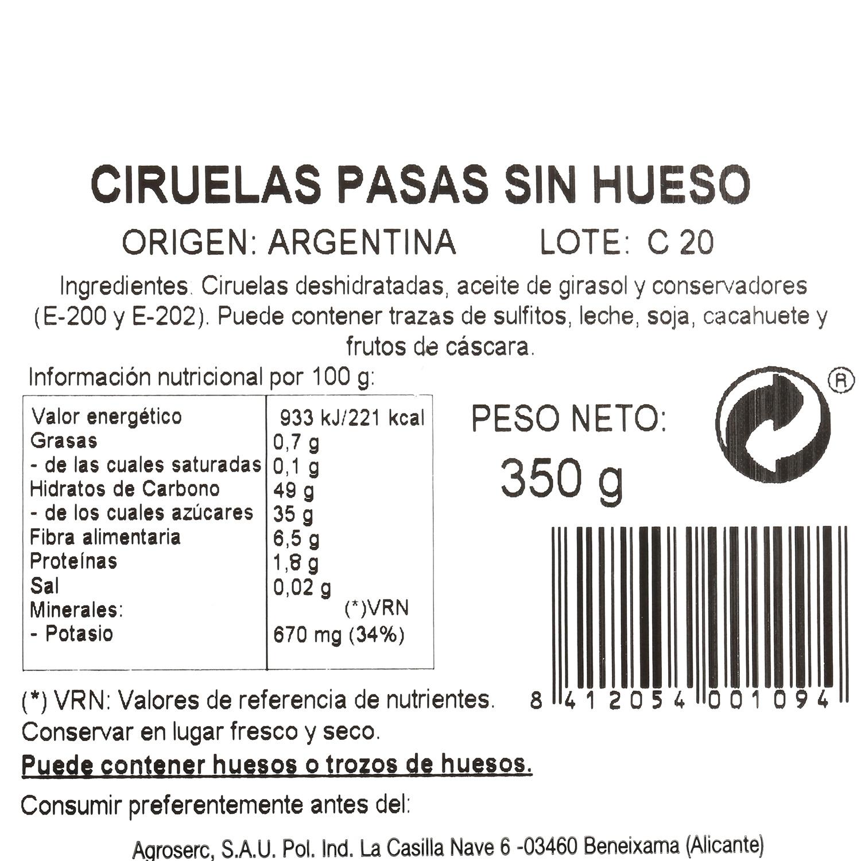 Ciruela deshuesada Carrefour tarrina 350 g - 3